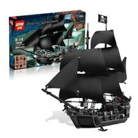 Wholesale Pirates Black Pearl Ship - LEPIN 16006 804pcs Pirates Of The Caribbean The Black Pearl Ship Building Model Blocks Set Toys Clone 4184 For Adult Child DHL 2017