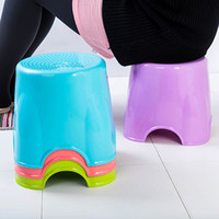 Wholesale Stool Plastic - Cylinder-shaped Plastic Stool Thickening Household Seat Candy Color Small Chair For Children And Adult