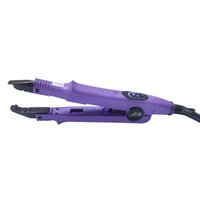 ingrosso attrezzo di legatura cheratina dell'estensione dei capelli-PIATTO PIATTO colore viola Fusion Hair Extension Keratin Bonding Tool ferro da stiro per capelli