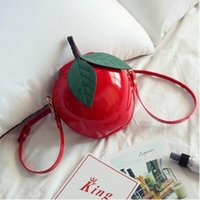 organic green apple - Ms Han edition new autumn red apple green apple one shoulder his personality and lovely cartoon small bag