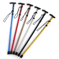 Wholesale 4 Joint Adjustable Folding Cane Walking Sticks Adjustable Height Aluminum Metal Walking Stick inches Rubber Tip