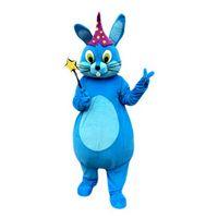 mavi tavşan maskotu toptan satış-Mavi tavşan Maskot Kostüm Karikatür Karakter Yetişkin Boyutu Longteng (TM) 03