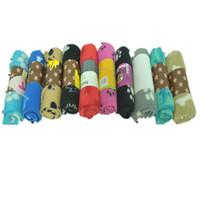 mantas huellas de la pata al por mayor-Creative Paw Prints Pet Dogs Mantas Soft Warm Mats Doble cubierta de cama de terciopelo Colorful Cat Blanket Cómodo 3 9ad KK