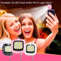 iphone aydınlatma paketi toptan satış-Taşınabilir 16 LED Flaş Özçekim Işık Doldurun Iblazr Özçekim Lens Sync Fener iphone Galaxy IOS 6.0 + Android 4.0 + WP8.0 Ile Paketi