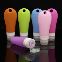 Vente en gros 90ml Bouteille rechargeable en silicone vide Cosmetic Soft Tube Travel Packing Press Bouteille Container For Lotion Shampooing Cream Bath