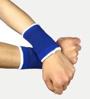 ingrosso guardia del polso da basket-1 Paia / lotto Esercizio Sport Basket Fascia da Polso Supporto Brace Wraps Cinturino Guardia di Sicurezza Protector Wristband Fasciatura Sweatbands
