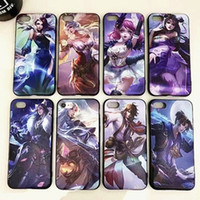 Wholesale Character Phone Cases - For iphone6s cell phone cases with iphone7 8plus King glory game character pattern matte relief TPU cases cover 2017 best new free shipping