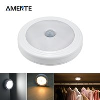 Wholesale Smart Ceiling Lighting - Wholesale- 1PCS Body Montion Infrared IR Sensor Novelty Lighting Smart On Off LED Ceiling Lamp Night Light Powered by Battery