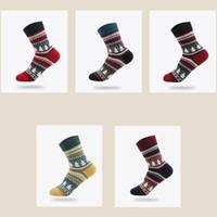 Wholesale warm christmas socks - 2017 NEW Christmas tree Socks Women Mens Cartoon Design Casual Knit Socks Men Winter Warm Socks Meias Calcetines free shipping