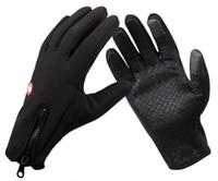 guantes impermeables al viento al por mayor-Nuevo Llega el deporte de invierno tapón de viento guantes de esquí impermeables guantes de equitación guantes de moto