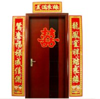 etiqueta de la pared de la boda china al por mayor-Decoraciones de la puerta de la boda chino de alta calidad china couplets boda decoración de la habitación de la boda chino etiqueta de la pared