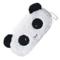 Wholesale Plush Cosmetic Bags - Wholesale- 1 PCS Kids Cartoon Panda Pencil Case Plush Large Pen Bag Cosmetic Makeup Cartoon Storage Bag