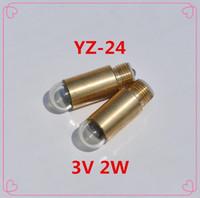 Wholesale Dc 24 2w - Free Shipping 5 pcs YZ-24 YZ24 3v DC Ophthalmoscope bulb 3V 2W medical equipment yz-24