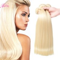 Wholesale Blonde Human Hair Extensions Cheap - Mslove #613 Blonde Virgin Hair 3 Bundles 7A Brazilian Straight Hair Weave Cheap Blonde Brazilian human Hair Extensions