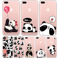 Wholesale Iphone Cute Cover - ba-001 Cute Cartoon Pandaa Soft TPU Case For Apple iphone 6 6s 6plus Fundas iphone 7 7plus Soft Silicone Animal Phone Cases Back Cover