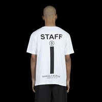 staff clothing - High Quality Mens Clothing Marcelo Burlon STAFF T shirts Men Women Fashion Summer Skateboard Hip Hop Mens Cotton T Shirt Hom