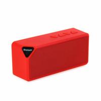 maçã multi dock venda por atacado-Atacado-X3 Mini Multi-Color Flash LED Luz Sem Fio Bluetooth Speaker com microfone embutido suporte USB AUX FM Radio TF Card
