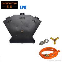 dmx china großhandel-TIPTOP TP-T154B Flammenwerfer - DJ-Band Bühnen- / Showeffekt - DMX-Feuerprojektormaschine - China Stage Light 3 Head Jet / 3 Nozzle
