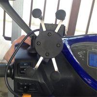 держатели для мобильных телефонов для велосипедов оптовых-Мотоцикл Маунт Держатель Телефон GPS Крэдл кронштейн Для iPhone Cell fit Велосипед Велосипед