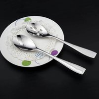 Wholesale Design Noodle - Stainless Steel Slotted Spoon Creative Style Design Tablespoon Noodle Strainer Kitchen Anti Measuring Spoons Hot Cookware Gift Small Spoon
