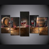Wholesale Canvas Paintings Wine Glasses - High definition printing ordinary wine glasses painting on the canvas room decoration printing poster image canvas, no frame