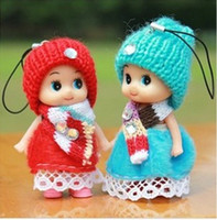 Wholesale Heart Character Costume - The girl confused doll wedding wedding sweater skin delicate gift plush toy wholesale mobile phone pendant