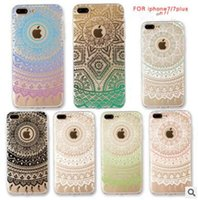 couverture iphone 5s dream catcher achat en gros de-Henné Coloré Floral Paisley Fleur Mandala Case Éléphant Dream Catcher Doux TPU Couverture Arrière Pour iPhone 7 6 6S Plus 5S DHL Gratuit