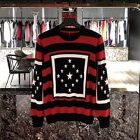 Wholesale Hoodie Stars Stripes - 2017 Autumn winter Brand Fashion Stripe pentagram stars printing Sweatshirt men Hoodies Casual Hoodie Male Long sleeve sweater
