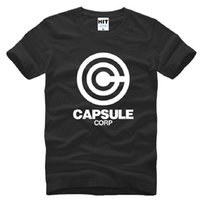 Wholesale Dragon Ball Capsule - New Dragon Ball Z Capsule T Shirts Men Cotton Short Sleeve O Neck Capsule Corp Printed Men T-shirt Summer Male Cartoon Top Tees