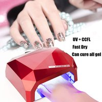 Wholesale Curing Lamps Nails - led ccfl 36W LED CCFL Nail Dryer Curing Lamp Machine for UV Nail Art Gel Polish