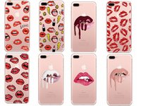 Graffiti Sexy Girl kiss Kylie Lips Makeups Mouse Caso do telefone para iPhone 6 6S 5 5s SE 7 7Plus Transparente capa de silicone suave