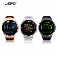 Wholesale Apple Pedometer - Smartwatch KW18 smart bluetooth watch with Waterproof Fashion Heart Rate Sync Heart Rate Monitor Pedometer watch for IOS and Android watches