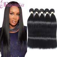Pure Color 100% Cabelo Humano Weave Trama Unprocessed Peruvian Straight Hair Extensions 5 pacotes podem ser tingidos