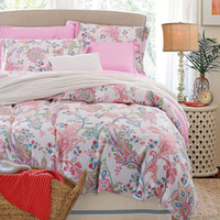 Wholesale King Size Flowered Cotton Sheets - Wholesale-American style 3d bedding set flower bed linen include duvet cover flat sheet pillowcases 4 pieces 100%cotton king queen size