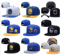 Wholesale Hottest Women State - HOT 2017 Adjustable curry Snapback Hat SnapBack Hat For Golden State Basketball Cap Cheap Hat Adjustable men women Baseball Cap