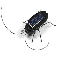 Wholesale Solar Power Black Cockroach Bug - Wholesale- HOT Solar Power Energy Black Cockroach Bug Toy Children ducational gadget Toy for children great