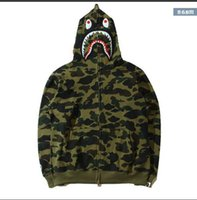 Wholesale Street Trade - Foreign trade and autumn tide brand new personalized cashmere Street military camouflage Jacket Wind Unisex Full Zip Hooded sweatshihfzjfahm