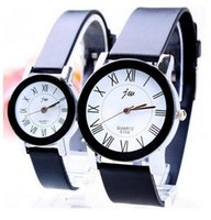 Wholesale Cheap Wholesale Watch Movements - AAA Fashion Couple Wristwatches Roman Numerals Minimalist Round Analog Cheap Men Women Luxury Leisure Quartz Movement 7750 Watches 2pc lot