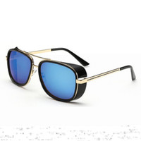Wholesale Iron Man Sports Sunglasses - Wholesale- Iron Man Tony Stark Sunglasses Vintage Sports Punk Sun Glasses for Men Retro Steampunk Sunglasses Men Luxury Brand Oculos Male