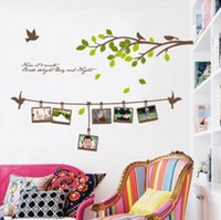 Wholesale Removeable Vinyl - Leaf Wall Stickers Art Decal Adhesive Removeable Wallpaper Mural Sticker for Room Bedroom Girls Living Room Decorative Art Home