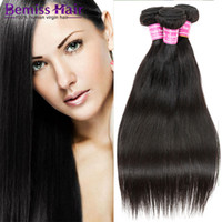 Hot Sales Brazilian Hair Weave Extensions de cheveux péruviennes Straight Natural Color Forme féminine malaisienne Weaves Indian Remy Hair Weft