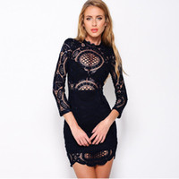 Wholesale Plus Size Chinese Dresses Clothing - Women Dress 2017 Bodycon Dresses Brand Design Plus Size Chinese Women Clothing Sexy White Evening Party Lace Dresses