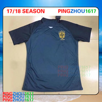 4175515c3a4 Soccer Men Short 2017 18 Brazil third Black Jersey 17 18 Soccer Jerseys  Camisa de futebol