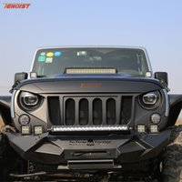 Wholesale The Newest High Strength Black ABS Grille Six Holes With Bug Screen For Wrangler JK
