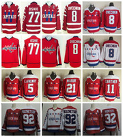 ovechkin hockey jersey - Washington Capitals Hockey Jerseys Alex Ovechkin TJ Oshie Throwback Rod Langway Dennis Maruk Mike Gartner Dale Hunter Kuznetsov