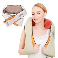 Wholesale Knead Massager - Home And Car Dual-Use Infrared Cervical Massage Shawls Pillow Shiatsu Kneading Neck And Shoulder Massager Body Massager