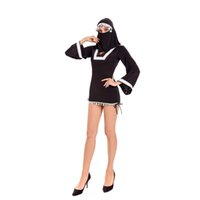 Wholesale Girls Sexy Halloween Costume - New Sexy Black Middle Eastern Arab Girl Burka Halloween Costume Fancy Dress With Face Veil W4110725