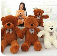 Wholesale Huge Stuffed Teddy Bears - 2017 High quality 80CM 2.62 FOOT Giant Huge plush teddy bears Holiday Gifts Christmas Stuffed Plush toys