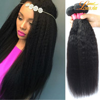 Longjia Hair Products Yaki Straight Cheveux Vierges Brésiliens Straight Unprocessed 100% Yaki Cheveux Humains Weave Brazilian Yaki Straight Wave
