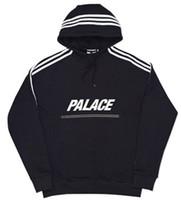 Wholesale Moleton Fashion - Wholesale- palace hoodies men 3m Reflective zipper hip hop hoodies sweatshirt moleton masculino men skateboard Tracksuits men hoodies
